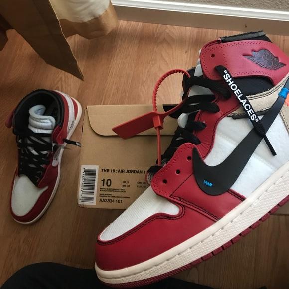 Jordan Shoes Off White 1s Sz 10 Poshmark